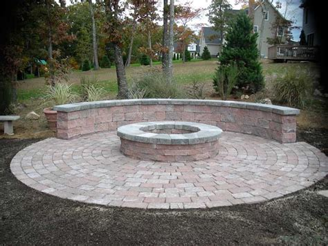 pit out of pavers pit bench with pavers outdoor comfort