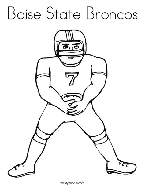 Boise State Coloring Pages boise state broncos coloring page twisty noodle