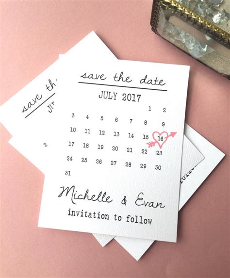 calendar card layout printable calendar save the date template heart date save the