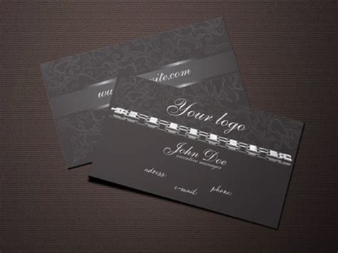 business card jewelry templates black jewelry business card template vector free