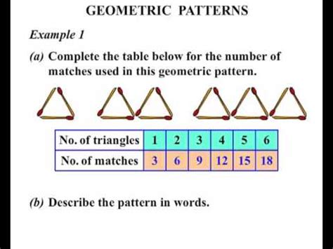 recursive pattern exles grade 6 5th grade geometric patterns youtube