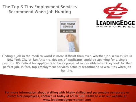 The Best Advice On Services Ive Found by The Top 3 Tips Employment Services Recommend When