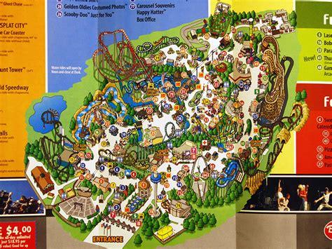 california s great america map california s great america 2001 park map