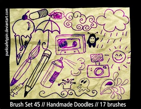 doodle free brush doodle brushes for photoshop 500 designs