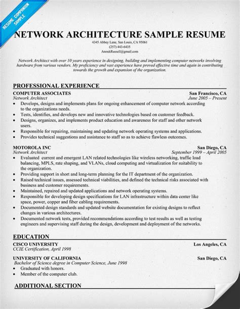 solution architect resume sle source