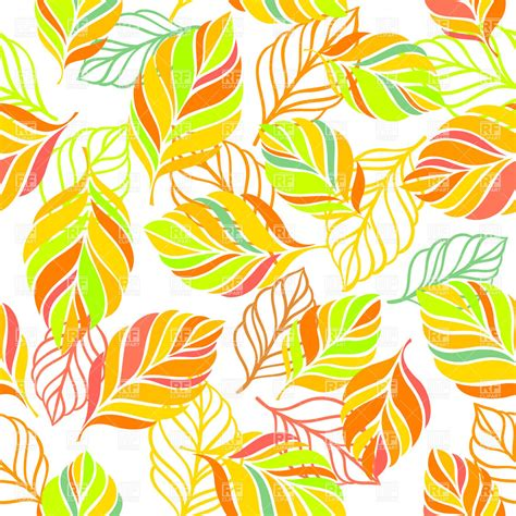 wallpaper design clipart colorful background with leaves seamless autumn