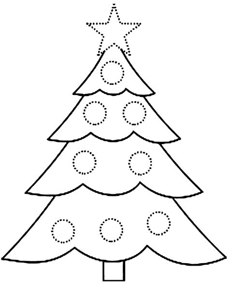 Large Printable Xmas Tree | free printable christmas tree coloring page coloring home
