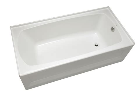 Mirabelle Mirbds6030lwh White Bradenton 60 Quot X 30 Quot Three Wall Alcove Soaking Tub With