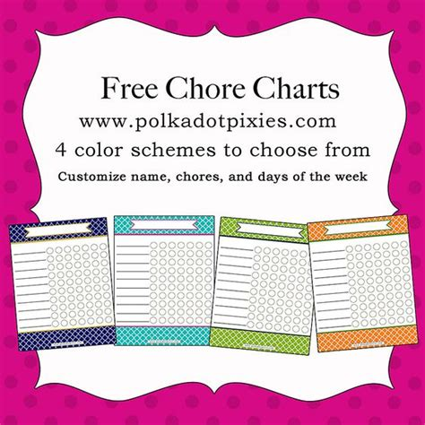 chore chart free printable wholefully