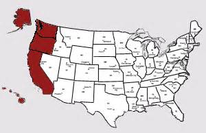 map of united states west coast recipes congressmen recipes senators west coast state