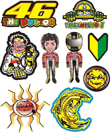 Sticker Vr46 07 popular roof motorcycle helmet buy cheap roof motorcycle