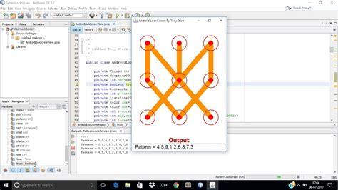 pattern lock java building a pattern lock screen using java youtube