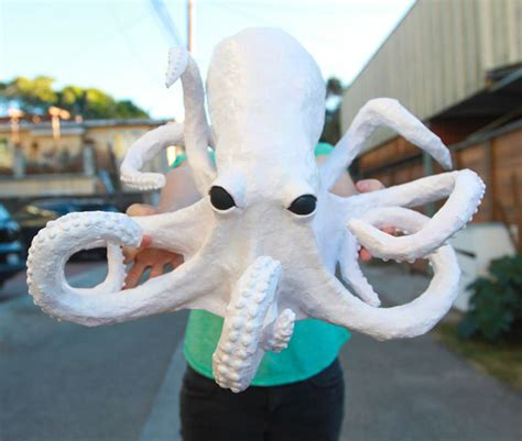Mache Paper Crafts - paper mache octopus diy for diy