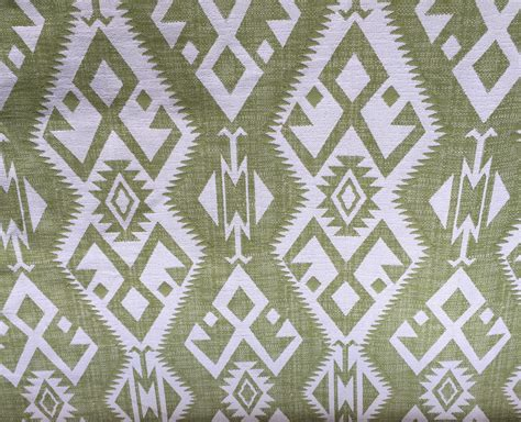 southwestern upholstery fabrics green tribal ikat southwestern green and white