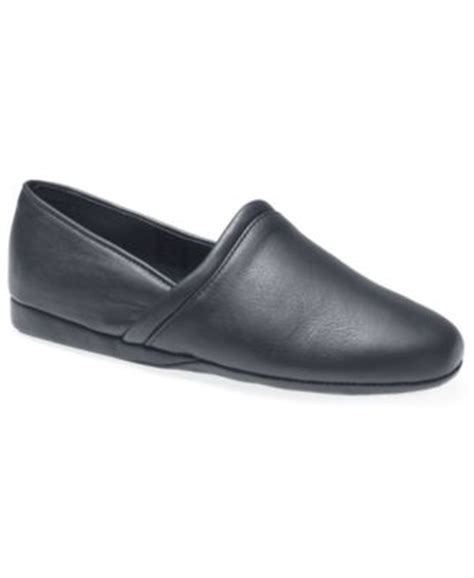 Bedroom Slippers At Macy S L B Aristocrat Scuff Leather Slippers Shoes