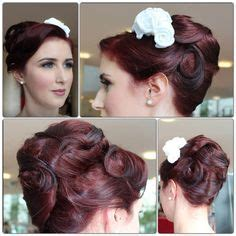 rods and finger wave hair styles rockabilly updo on pinterest bumper bangs victory rolls