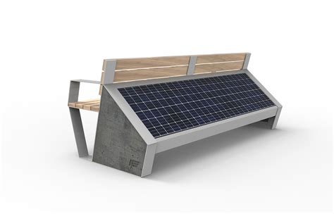 solar bench capasitty smart solar bench on behance