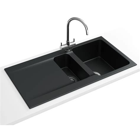franky sinks franke oid 651 tectonite carbon black 1 5 bowl inset
