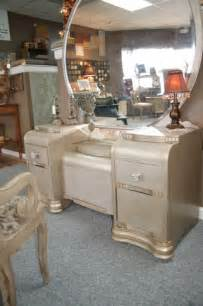 An antique waterfall vanity repurposed silver traditional indoor