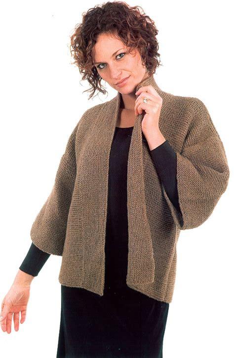 knitting pattern kimono sweater basic garter stitch kimono knitting pattern halcyon yarn