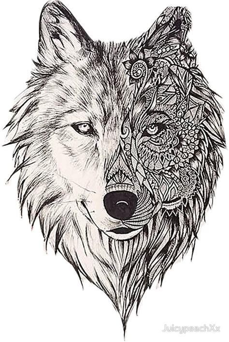 wolf mandala stickers redbubble