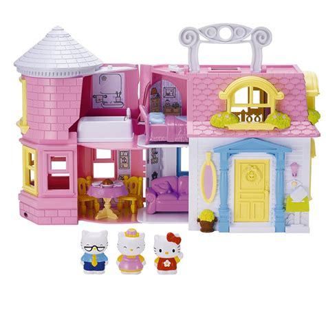 hello kitty doll house hello kitty victorian doll house with furniture accessories figures for age 4 ebay