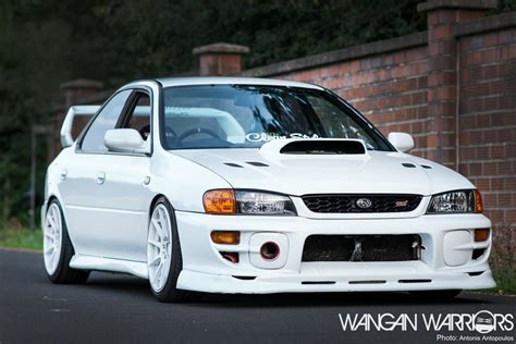 subaru gc8 that frozen white subaru impreza sti wangan warriors