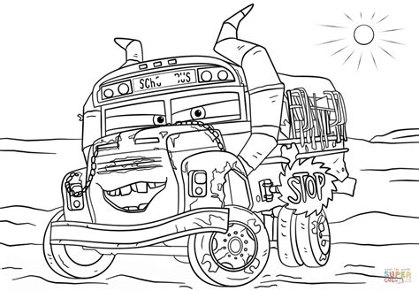 Coloring Page Cars 3 by Miss Fritter From Cars 3 Coloring Page Free Printable