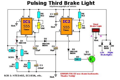 third brake light wiring diagram brakelight flasher brake light pulsing brake light