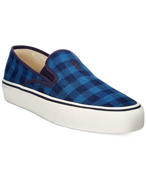 polo sneakers womens polo ralph mytton sneakers in blue lyst