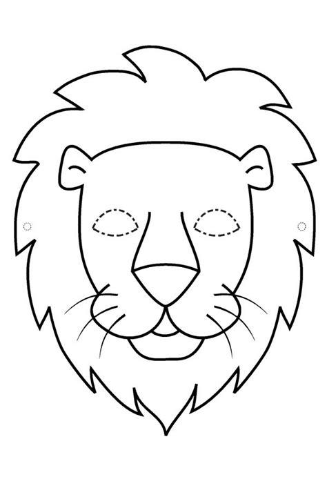 coloring page lion mask masque de lion 224 imprimer