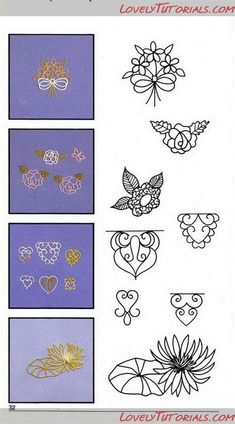 Royal Icing Filigree Templates