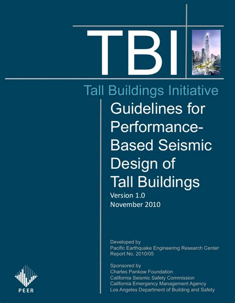 caltrans seismic design criteria v 1 4 tbi peer2010 05 guidelines for performance based seismic