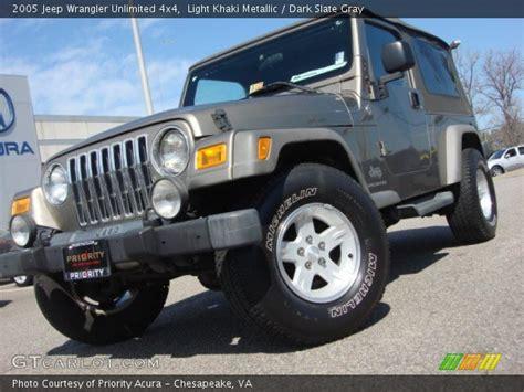 jeep wrangler light grey light khaki metallic 2005 jeep wrangler unlimited 4x4