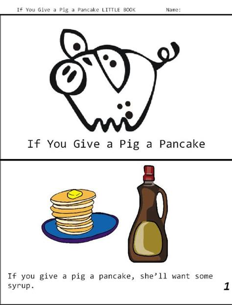 Free Coloring Pages Of Pig Pancake If You Give A Pig A Pancake Coloring Pages