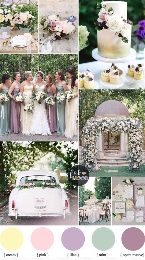 wedding color palettes pastel wedding colour palette lilac mauve and mint
