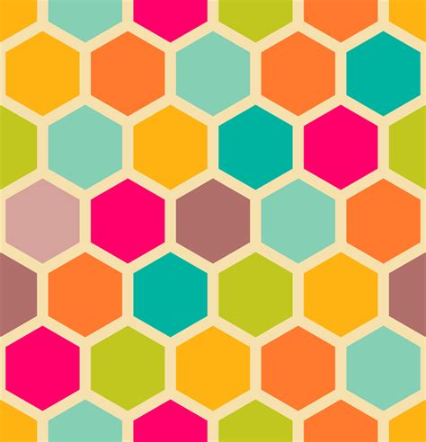 pattern geometric hexagon retro geometric hexagon seamless pattern 129873302