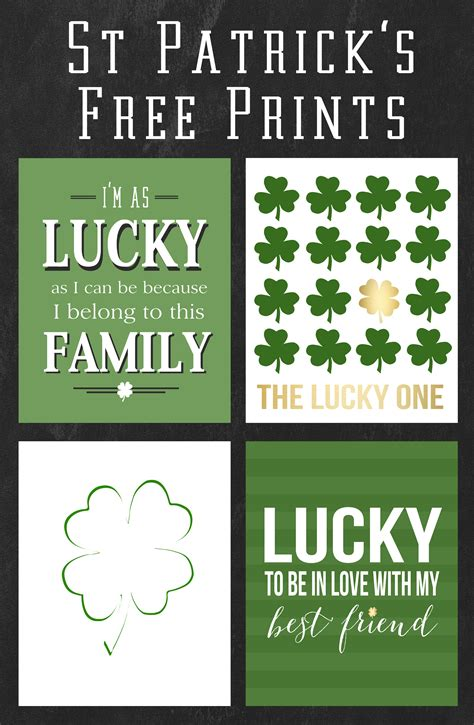 Wall Stickers Quotes Family saint patrick s day free prints