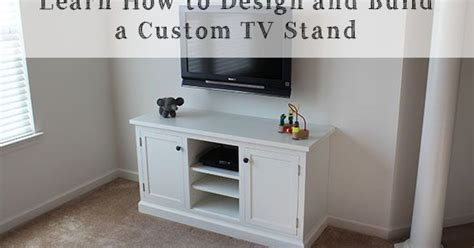 building a custom media cabinet from scratch hometalk