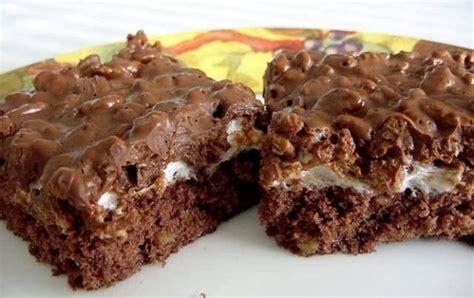 rice crispy bars with chocolate on top rice krispies chocolate dream bars recipe food com