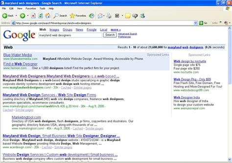 Md Search Website Maryland Web Designers Search Engine Optimization Organic Search Engine Marketing