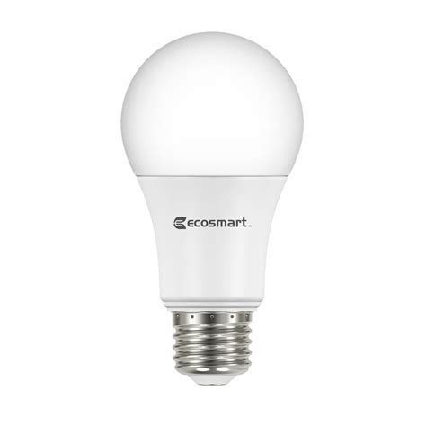 ecosmart light bulbs warranty ecosmart 100w equivalent daylight a19 dimmable led light
