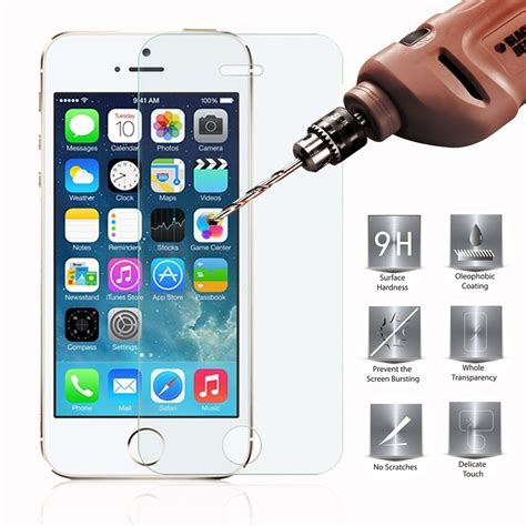 Temperedglass Iphone 5 apple iphone 5 5s 5c tempered glass screen protector