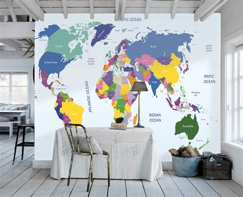 wall map for room world map wallpaper map wallpaper study room wall paper