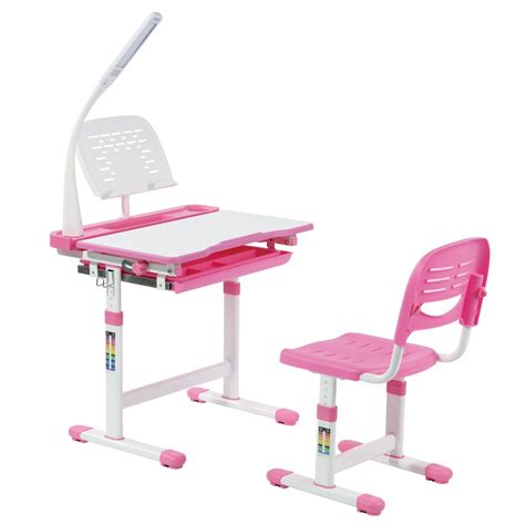 Girly Midi midi pink desk and chair for