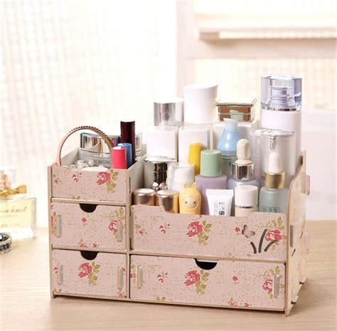 Rak Kosmetik Surabaya jual jual diy desktop storage rak kayu kosmetik 3 laci