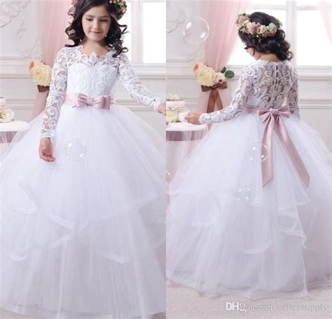 Ballgown Bridal Dress Pesta 4 sleeve communion dress for 2017 lace