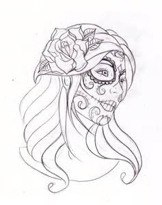 Outline day of the dead tattoos design