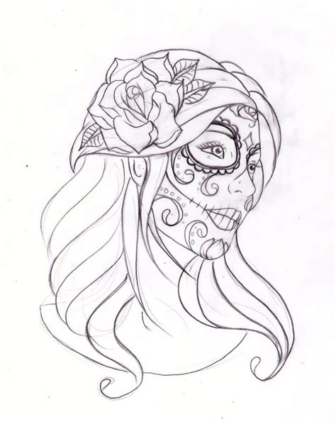 day of the dead woman tattoo designs day of the dead images designs