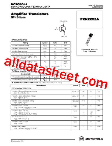 datasheet c828 transistor pdf 2n222 datasheet pdf motorola inc